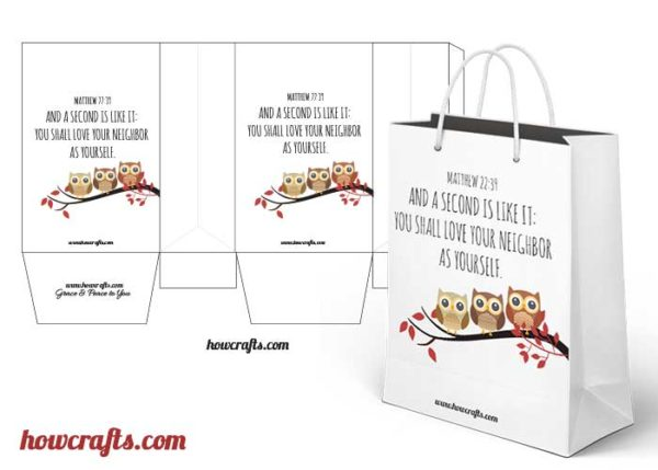 Owl Themed Brown Paper Bags