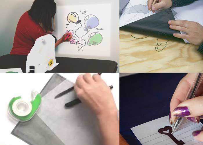 how to trace a picture onto canvas
