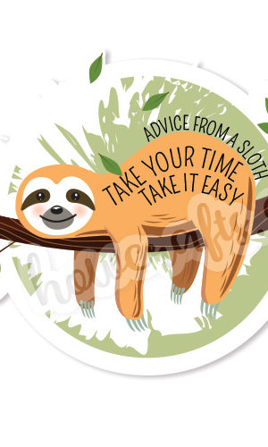 sloth stickers - vsco stickers pack
