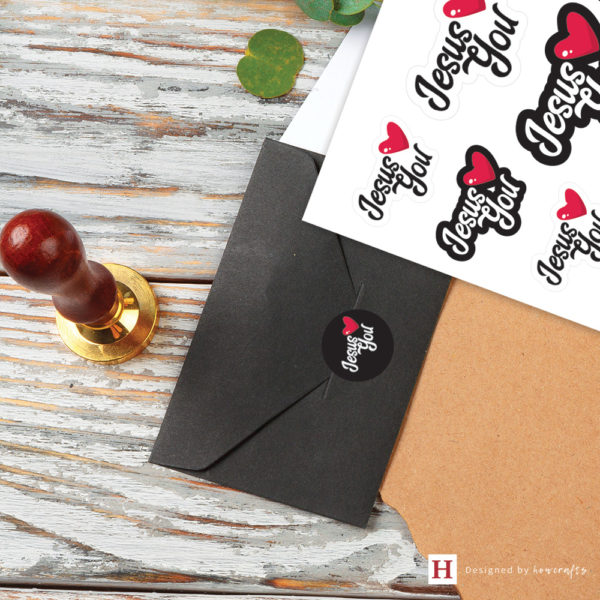 package your gifts with a piece of Jesus Loves You sticker