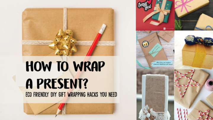how to wrap a gift - eco friendly diy hacks