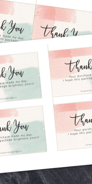 thank you for your purchase insert card
